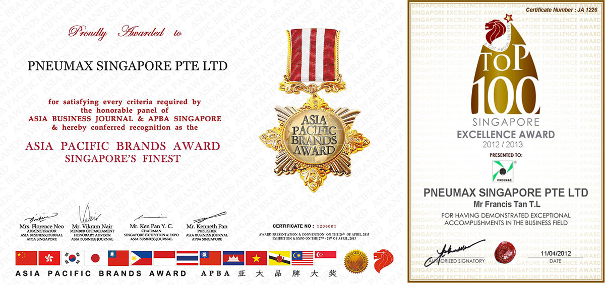 Pneumax Singapore Certificates